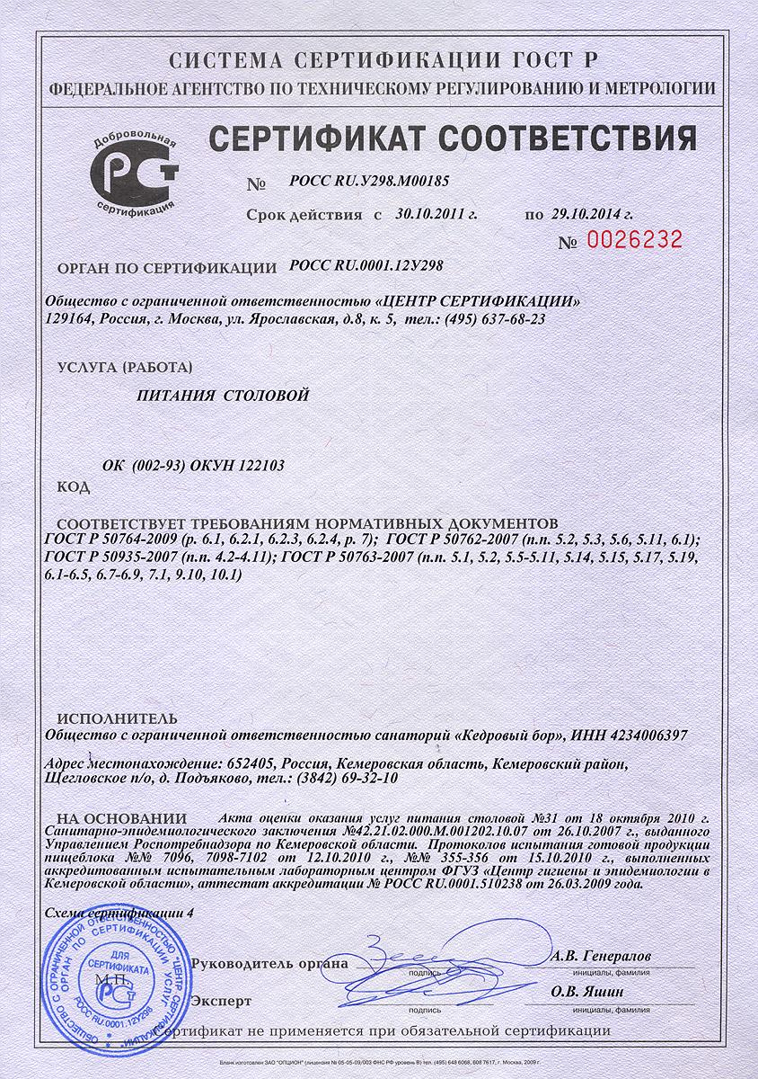 пустой бланк заполнения сертификата соответствия